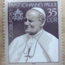 Sellos: ALEMANIA DDR 1990. ***MNH. POPE JOHN PAUL II. MI:DD 3337,. Lote 269935788