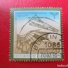 Sellos: *ALEMANIA, DDR, 1990, EXPOSICION FILATELICA DE CORREO AEREO LILIENTHAL-91, YVERT 2915. Lote 270242883