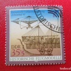 Sellos: *ALEMANIA, DDR, 1990, EXPOSICION FILATELICA DE CORREO AEREO LILIENTHAL-91, YVERT 2916. Lote 270242968
