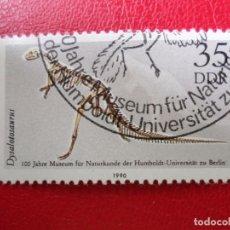 Sellos: *ALEMANIA, DDR, 1990, CENTENARIO MUSEO DE HISTORIA NATURAL UNIVERSIDAD DE HUMBOLT, YVERT 2926. Lote 270243448