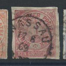 Sellos: ALLEMAGNE DU NORD N°2/5 + 9 OBL (FU) 1868. Lote 270482548