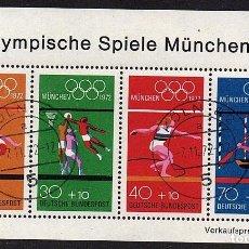 Sellos: HB USADA DE ALEMANIA - JUEGOS OLIMPICOS DE MUNICH - AÑO 1972. Lote 272573928