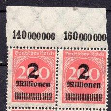 Sellos: ALEMANIA IMPERIO, 1923 , MICHEL 309APA , MNH. Lote 289891863