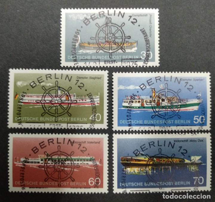 ALEMANIA BERLIN 1975. TRANSPORTATION IN BERLIN: PASSENGERS SHIPPING (Sellos - Extranjero - Europa - Alemania)