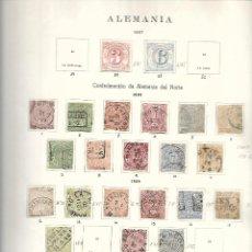 Sellos: ALEMANIA SELLOS DE LA CONFEDERACION DE ALEMANIA DEL NORTE DEL SUR Y SERVICIO 1867/70 MUY ALTO VALOR. Lote 275134978