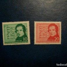 Sellos: /19.07/-ALEMANIA ORIENTAL-1956-Y&T 251/2 SERIE COMPLETA EN NUEVO(**MNH). Lote 276379568