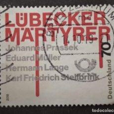 Sellos: ALEMANIA 2018.75TH ANNIVERSARY OF THE MARTYRS OF LUBECK. MI:DE 3417,. Lote 277112193
