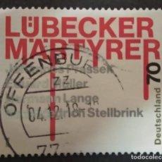 Sellos: ALEMANIA 2018.75TH ANNIVERSARY OF THE MARTYRS OF LUBECK. MI:DE 3417,. Lote 277112293