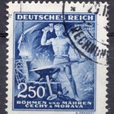 Sellos: BOHEMIA Y MORAVIA, 1943 STAMP ,, MICHEL 130. Lote 277142708