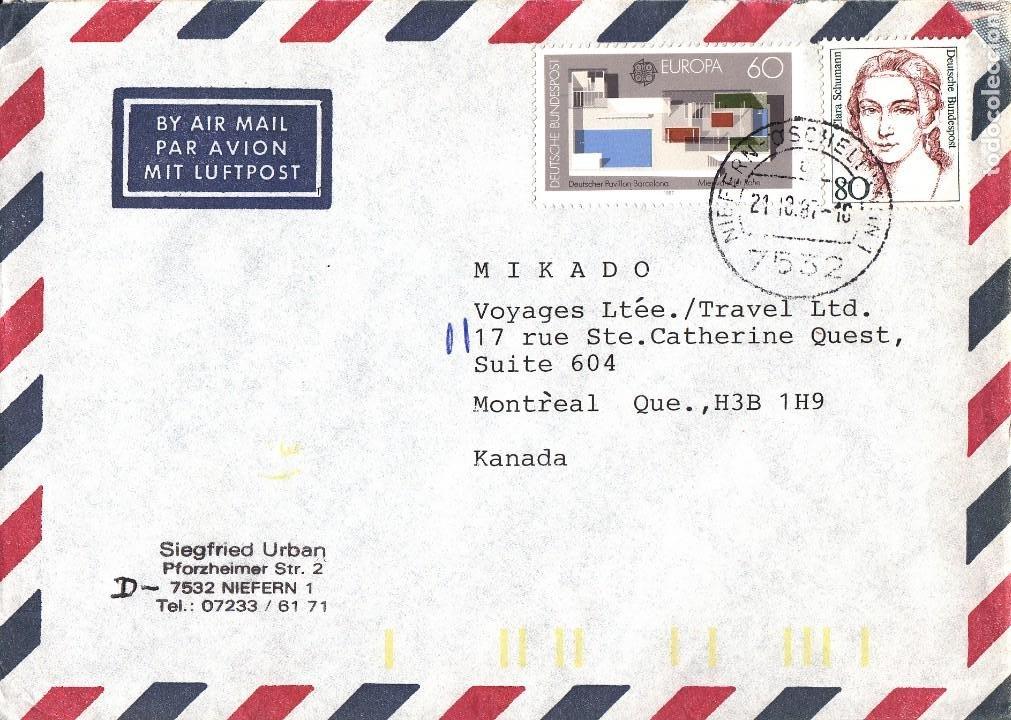 CORREO AEREO: ALEMANIA 1987 (Sellos - Extranjero - Europa - Alemania)