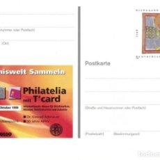 Sellos: [C0377] ALEMANIA 1999, PS FILATELIA CON T'CARD (N). Lote 277170518