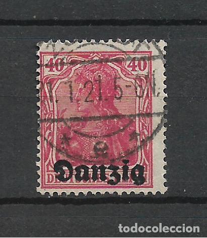ALEMANIA DANZIG 1920 MICHEL 6 USADO - 7/39 (Sellos - Extranjero - Europa - Alemania)