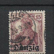 Sellos: ALEMANIA DANZIG 1920 MICHEL 3 USADO - 7/39. Lote 277207833