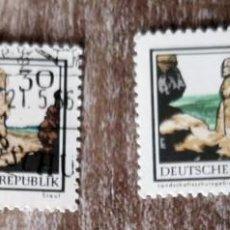 Sellos: 2 SELLOS USADOS ALEMANIA -DDR 1966- PARQUES NACIONALES. Lote 277533618