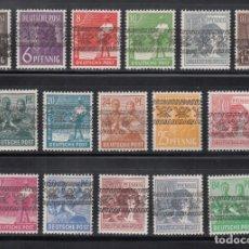 Sellos: ALEMANIA, BIZONA, 1948 YVERT Nº 21 / 36 /**/, SOBRECARGA TIPO II. Lote 277646068