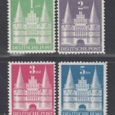 Sellos: ALEMANIA, BIZONA, 1948 YVERT Nº 65 / 68 /**/, TIPO I, SIN FIJASELLOS. Lote 277658383