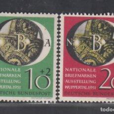 Sellos: ALEMANIA FEDERAL, 1951 YVERT Nº 27 / 28 **/*. Lote 277758183