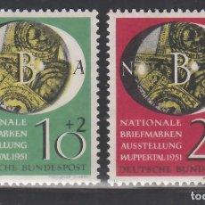 Sellos: ALEMANIA FEDERAL, 1951 YVERT Nº 27 / 28 /**/, SIN FIJASELLOS. Lote 277758428