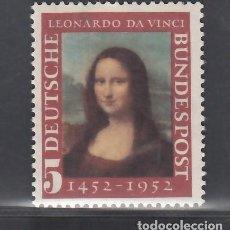 Sellos: ALEMANIA FEDERAL, 1952 YVERT Nº 34 /**/, SIN FIJASELLOS. Lote 277820993