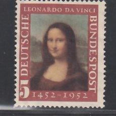 Sellos: ALEMANIA FEDERAL, 1952 YVERT Nº 34 /*/. Lote 277821178
