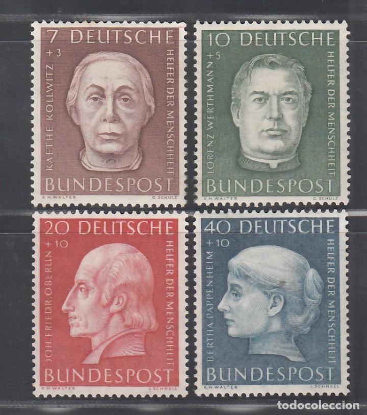 ALEMANIA FEDERAL, 1954 YVERT Nº 76 / 79 /**/, SIN FIJASELLOS (Sellos - Extranjero - Europa - Alemania)