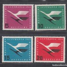 Sellos: ALEMANIA FEDERAL, 1955 YVERT Nº 81 / 84 /*/,. Lote 277846323