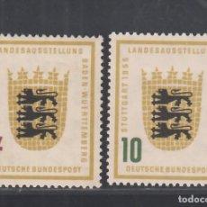 Sellos: ALEMANIA FEDERAL, 1955 YVERT Nº 89 / 90 /*/,. Lote 277847268