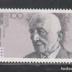 Sellos: ALEMANIA FEDERAL, 1991 YVERT Nº 1388 /**/, REINOLD VON THADDEN, TEÓLOGO. Lote 278285703
