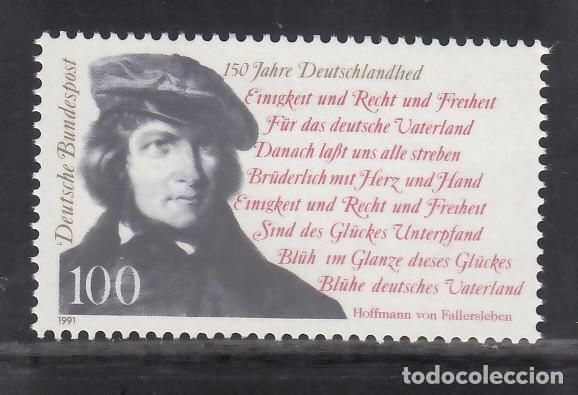 ALEMANIA FEDERAL, 1991 YVERT Nº 1387 /**/, AUGUST HEINRICH HOFFMAN, FILÓLOGO (Sellos - Extranjero - Europa - Alemania)