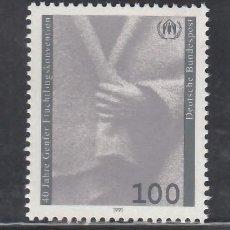 Sellos: ALEMANIA FEDERAL, 1991 YVERT Nº 1372 /**/, CONVENCIÓN DE GINEBRA SOBRE REFUGIADOS. Lote 278286333
