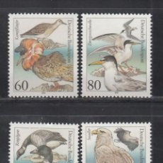 Sellos: ALEMANIA FEDERAL, 1991 YVERT Nº 1367 / 1379 /**/, AVES.. Lote 278286488