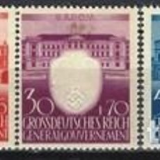 Sellos: GOBIERNO GENERAL EN POLONIA 1943 -3º ANIV. DEL PARTIDO NSDAP, S.COMPLETA - MNH**. Lote 278409483