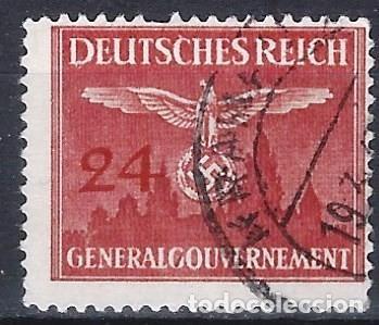 GOBIERNO GENERAL EN POLONIA 1943 - SELLO OFICIAL - USADO (Sellos - Extranjero - Europa - Alemania)
