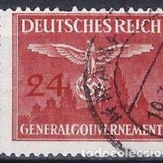 Sellos: GOBIERNO GENERAL EN POLONIA 1943 - SELLO OFICIAL - USADO. Lote 278409713