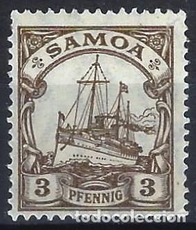 SAMOA ALEMANA 1901 - EL ACORAZADO HOHENZOLLERN - MH* (Sellos - Extranjero - Europa - Alemania)