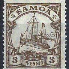 Sellos: SAMOA ALEMANA 1901 - EL ACORAZADO HOHENZOLLERN - MH*. Lote 278411243