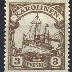 Sellos: ISLAS CAROLINAS ALEMANAS 1901 - EL ACORAZADO HOHENZOLLERN - MH*. Lote 278411588