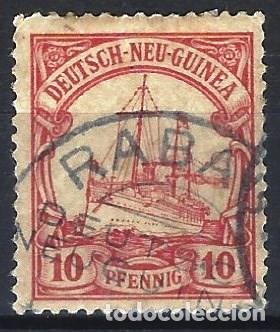 NUEVA GUINEA ALEMANA 1901 - EL ACORAZADO HOHENZOLLERN - USADO (Sellos - Extranjero - Europa - Alemania)