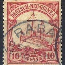 Sellos: NUEVA GUINEA ALEMANA 1901 - EL ACORAZADO HOHENZOLLERN - USADO. Lote 278411773