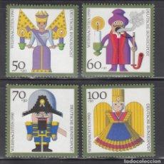Sellos: ALEMANIA FEDERAL, 1990 YVERT Nº 1316 / 1319 /**/, NAVIDAD. Lote 278511883