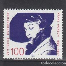 Sellos: ALEMANIA FEDERAL, 1990 YVERT Nº 1315 /**/, KATHE DORSCH (ACTRIZ). Lote 278512648