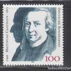 Sellos: ALEMANIA FEDERAL, 1990 YVERT Nº 1305 /**/. Lote 278515603