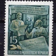 Sellos: ALEMANIA DEMOCRATICA, DDR , 1955, STAMP. MICHEL, 487AYII. Lote 278929228