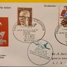 Sellos: O) 1975 ALEMANIA, PRES. GUSTAV HEINEMANN, MADRES Y FUNDACIÓN, FUNDACIÓN CONVALESCENTE, LUFTHANSA-ERS. Lote 279482283