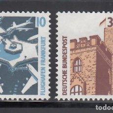 Sellos: ALEMANIA FEDERAL, 1988 YVERT Nº 1179 / 1180 /**/. Lote 280692073