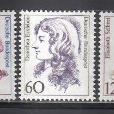 Sellos: ALEMANIA FEDERAL, 1987 YVERT Nº 1163 / 1165 /**/. Lote 280692493