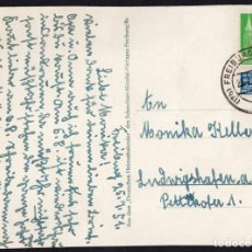 Sellos: ENTERO POSTAL, ALEMANIA BRISGOVIA A LUDWIGSHAFEN 1951. Lote 283116368