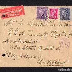 Sellos: ENTERO POSTAL, BÉLGICA A ALEMANIA 1943. Lote 283116708