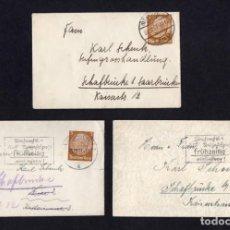 Sellos: LOTE 3 ENTERO POSTALES ALEMANIA 1937/1938. Lote 283116878
