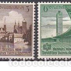 Sellos: LOTE DE SELLOS NUEVOS ANTIGUOS DE ALEMANIA III REICH - ESVASTICA - PARTIDO NAZI - WWII. Lote 283475878